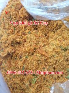 Vụn khô Gà Xé Cay Cho Bánh Tráng Trộn