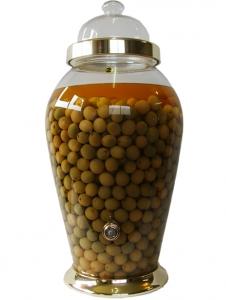 Hủ Bình thủy tinh ngâm rượu Hàn Quốc N2-30 lít có van